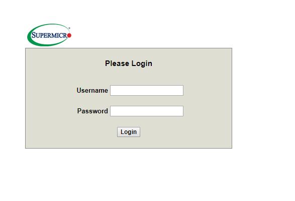 supermicro ipmi login page