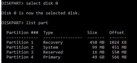 list part на gpt диске
