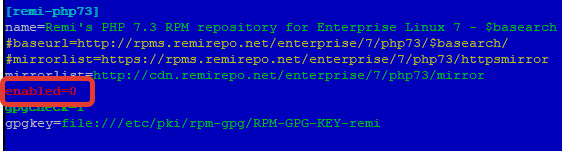remi repository enabled=0