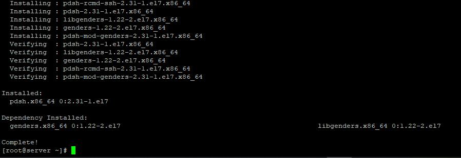 установке pdsh в linux centos