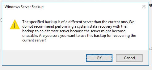 бэкап от другого сервера контроллера домена