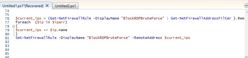 добавить IP адреса, с которых идет перебор паролей в блокировку