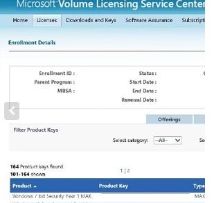mak ключ для активации esu подписки для windows 7 в личном кабинете Microsoft