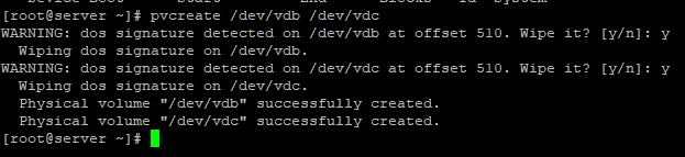 pvcreate - ініціалізація дисків під LVM в Linux