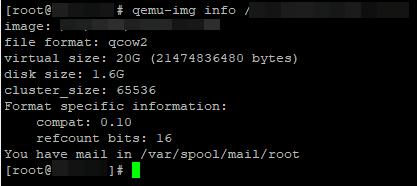 qemu-img інформація про диск віртуальної машини