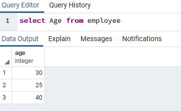 выполнить select в PostgreSQL с помощью PgAdmin