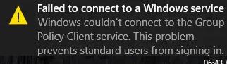 Windows не вдалося підключитися до служби клієнта групової політики