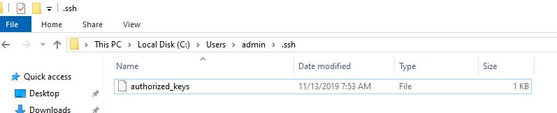 authorized_keys - файл с открытым ключом