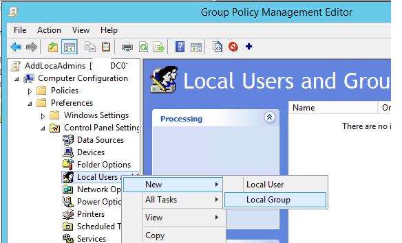 Group Policy Preferences управление локальными группами