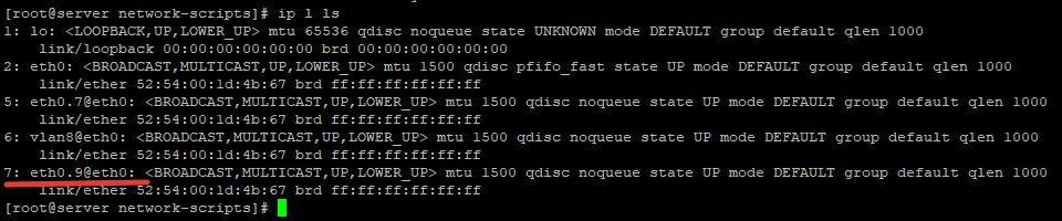 ip l ls - виртуальный сетевой интерфейс vlan