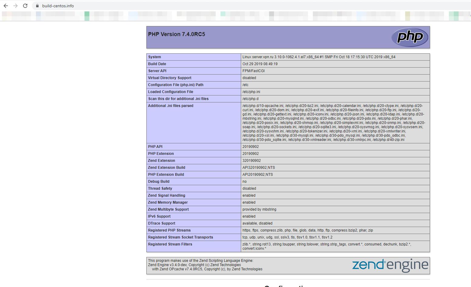 nginx + php-fpm перевірка роботи php скрипта