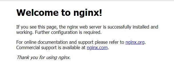 nginx встановлений
