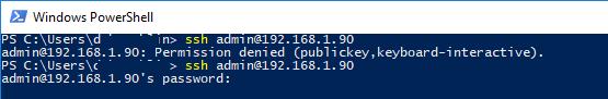 ssh подключение по ключу под администратором