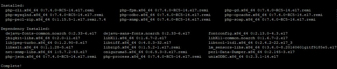 установка php-fpm і популярних модулів php