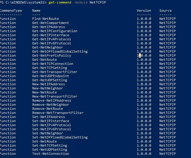 модуль powershell NetTCPIP для управления сетевыми настройками в windows