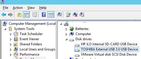 проброс USB диска в виртуальную машину vmware