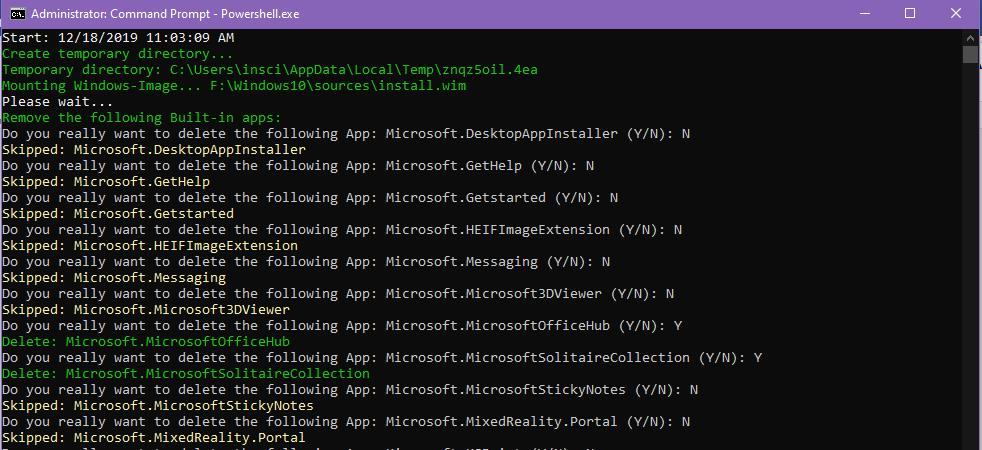 removeapps.ps1 pathtowim - скрипт удаления втсроенных приложений из образа windows 10