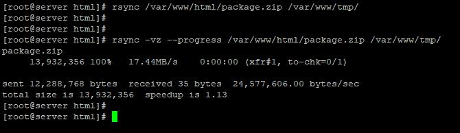 rsync - копіювання файлів з відображенням прогресу