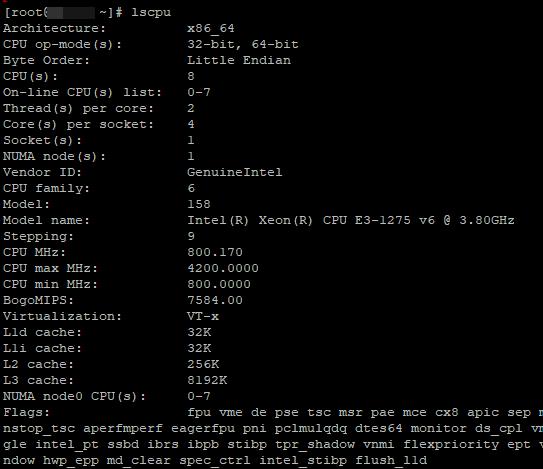 lscpu - команда с полной информацией о процессоре, модели, частоте, скоросте