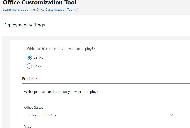office customization tool настройка параметрів установки ms office