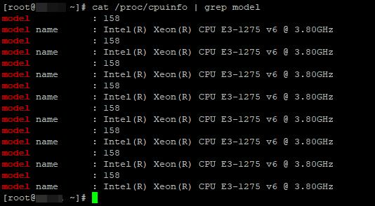 / Proc / cpuinfo інформація про процесори на linux сервері