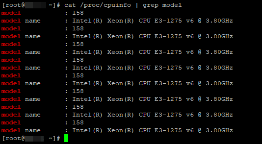 /proc/cpuinfo информация о процессорах на linux сервере