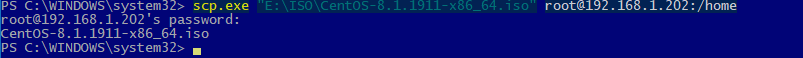 scp.exe копирование файлов через ssh