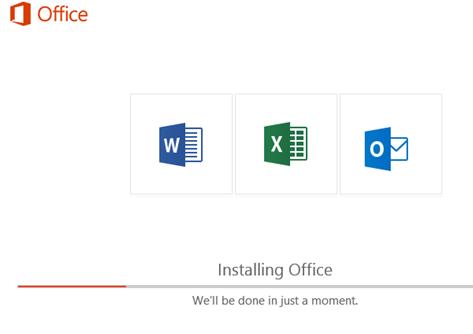 установка тільки обраних додатки word.  excel і outlook в office 365 / office 2019