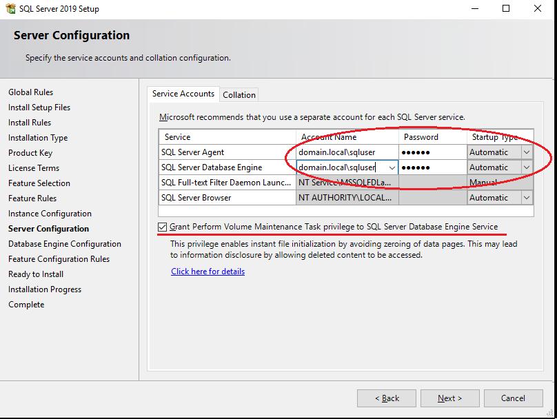 запуск sql server под доменной учетной записью