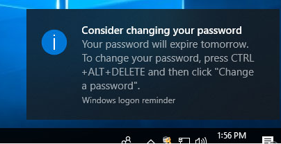 Consider changing your password