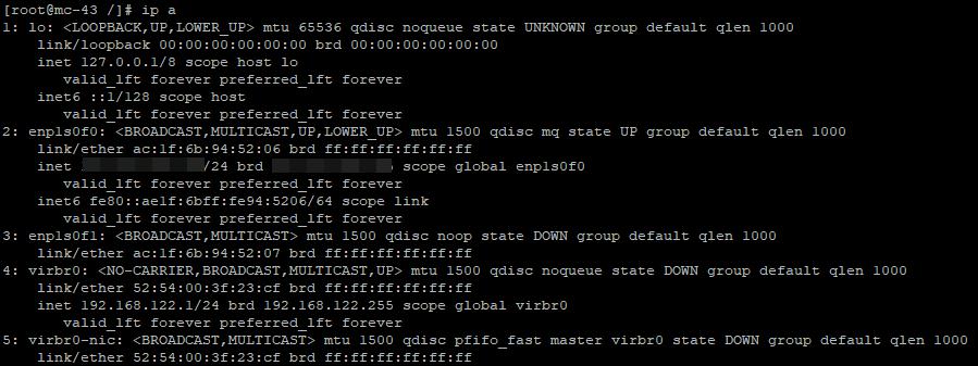 настройка bridge интерфейса для виртуальных машин kvm в linux