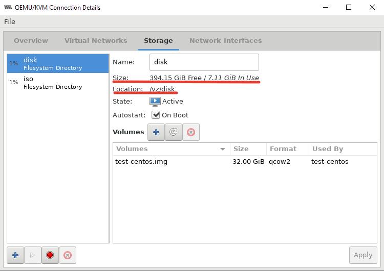 новое хранилище для дисков ВМ