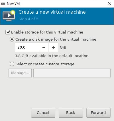 размер диска вируальной машины в KVM