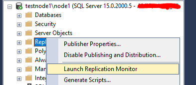 Replication Monitor в sql server