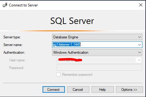 SQL Server подключение к листенеру Always on