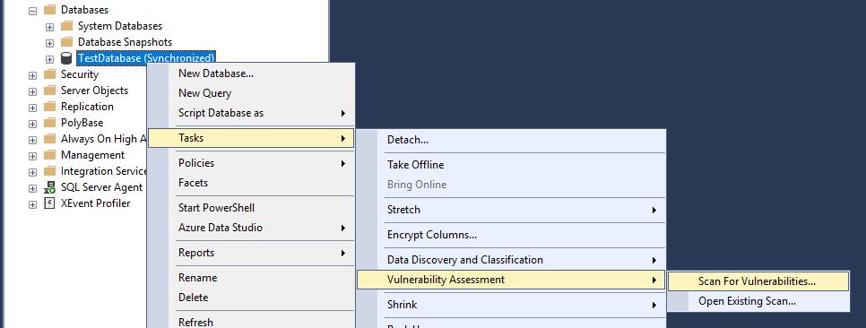 SQL Server проверка уязвимостей