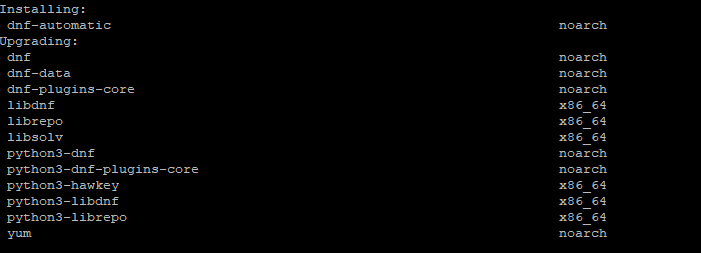 установка dnf-automatic в centos 8