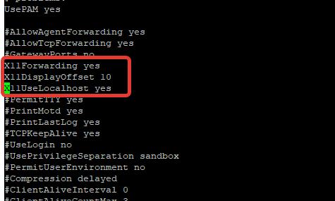 включить X11Forwarding в ssh