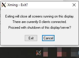 запуск Xming в windows