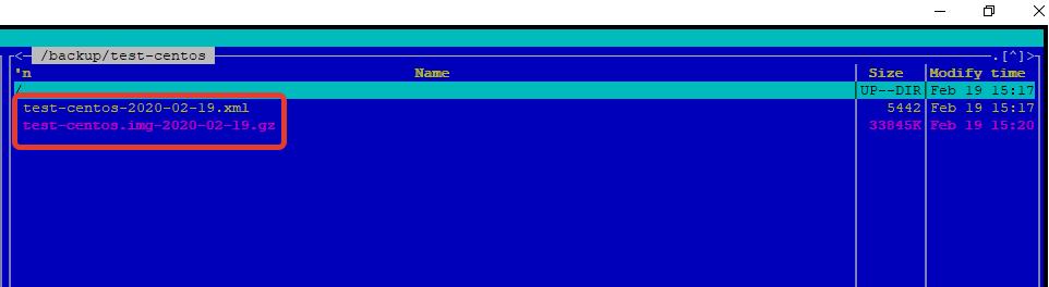 бэкап конфигурационного файла и образа диска kvm