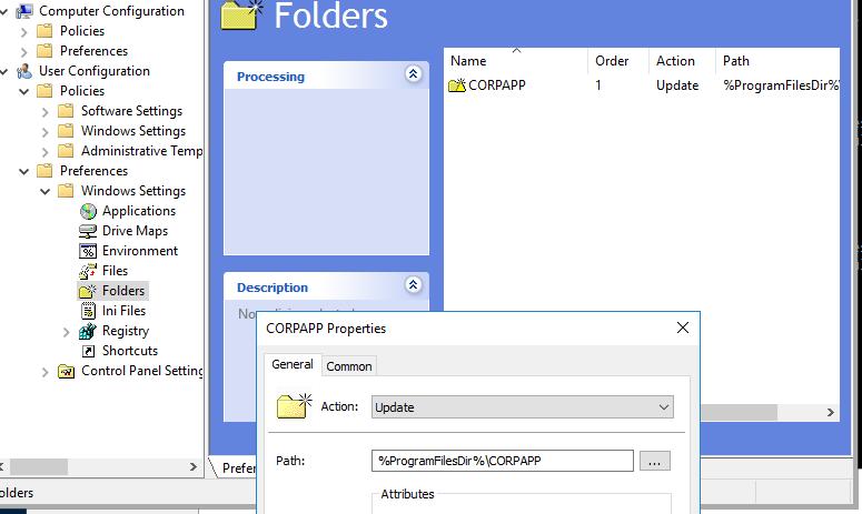 GPP для создания каталога на компьютерах в домене