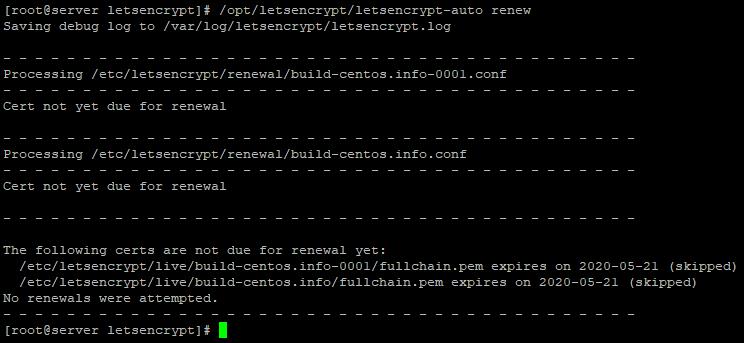 обновление сертфиката let's ecncrypt