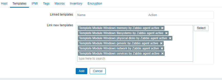 шаблоны zabbix для windows