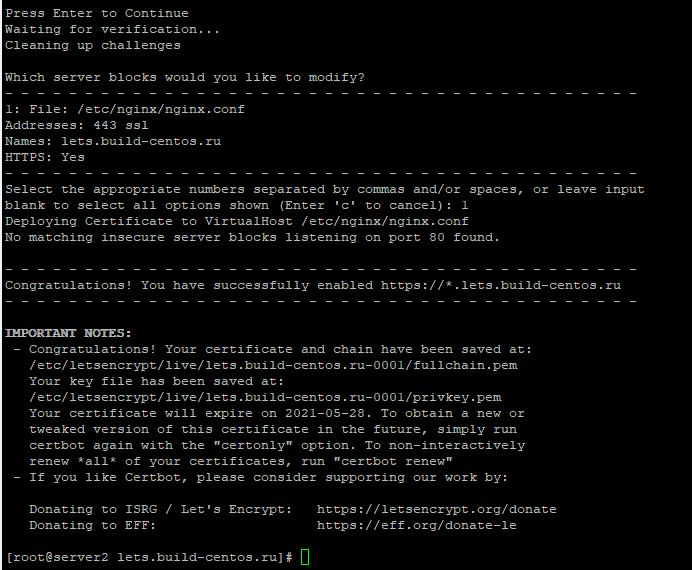 ssl сертификат lets encrypt _acme-challenge