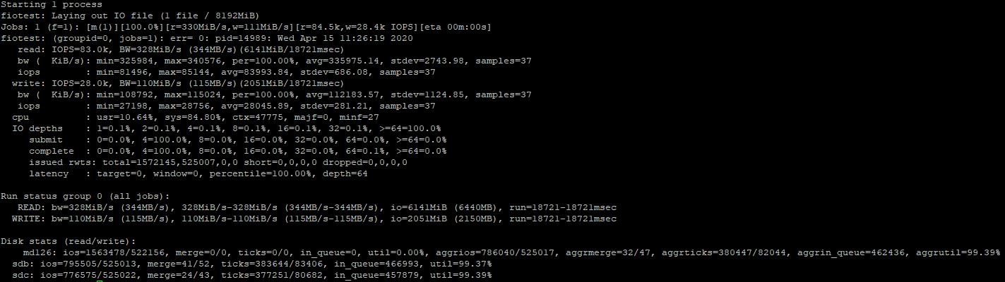 fio утилита тести iops в linux centos
