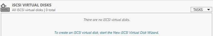 создать iSCSI virtual disk