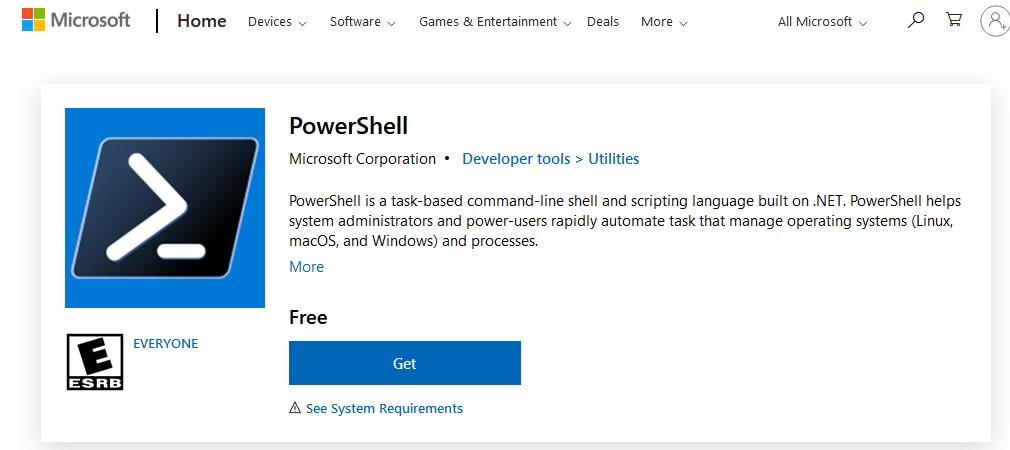 ustanovkaобновление powershell core в windows 10 через microsoft store