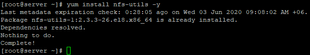 centos установка пакета nfs-util