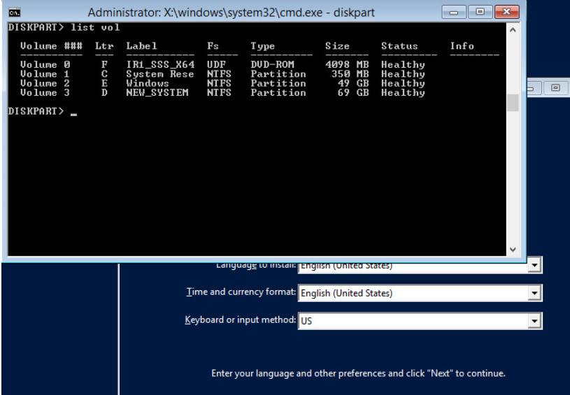 diskpart таблица разделов на mbr диске
