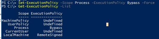 Get-ExecutionPolicy scopes області дії